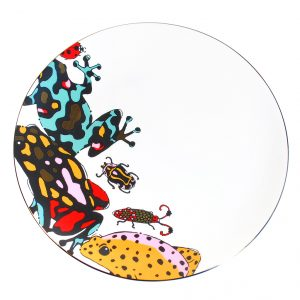 Fine Bone China Plate 'Fatal Attraction'