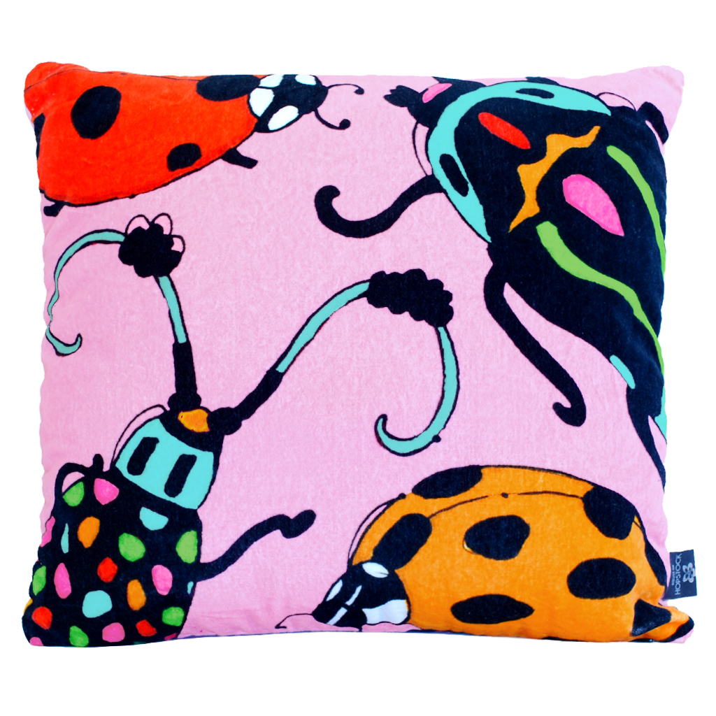 Beetle Print Cushion Cover 'Bugsy Malone'