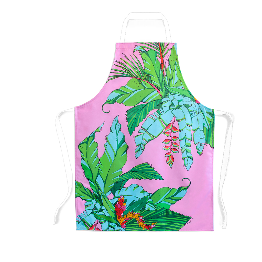 Palm Print Children's Apron 'Shangri La Orange'