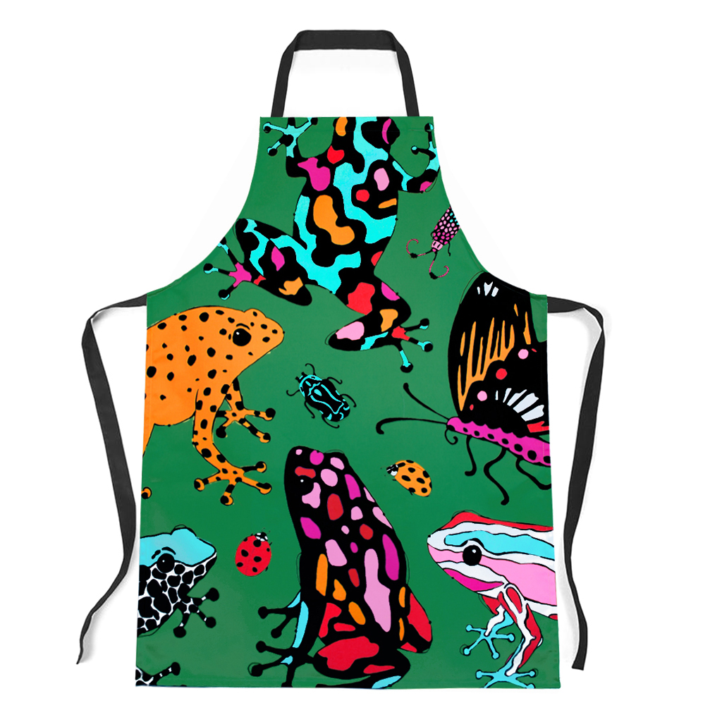 Frog and Bug Apron 'Fatal Attraction Green'