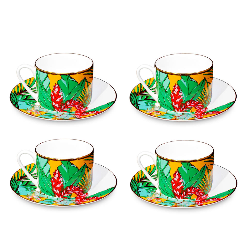Fine Bone China Cups and Saucers 'Shangri La'
