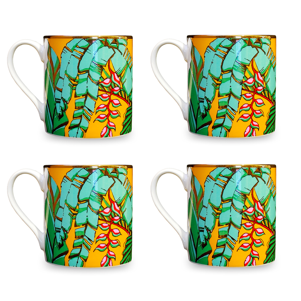 Fine Bone China Mugs 'Shangri La'