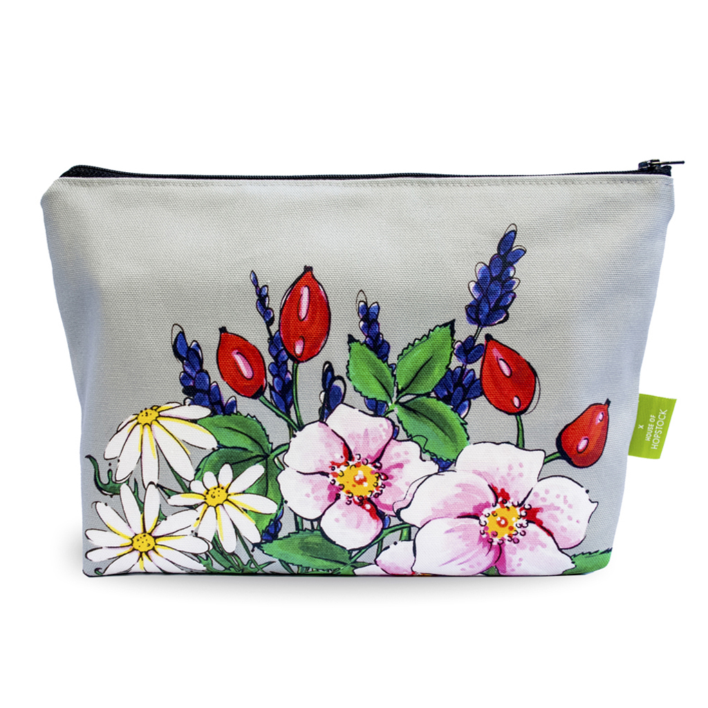 Floral Makeup pouch 'Somerset Slate'