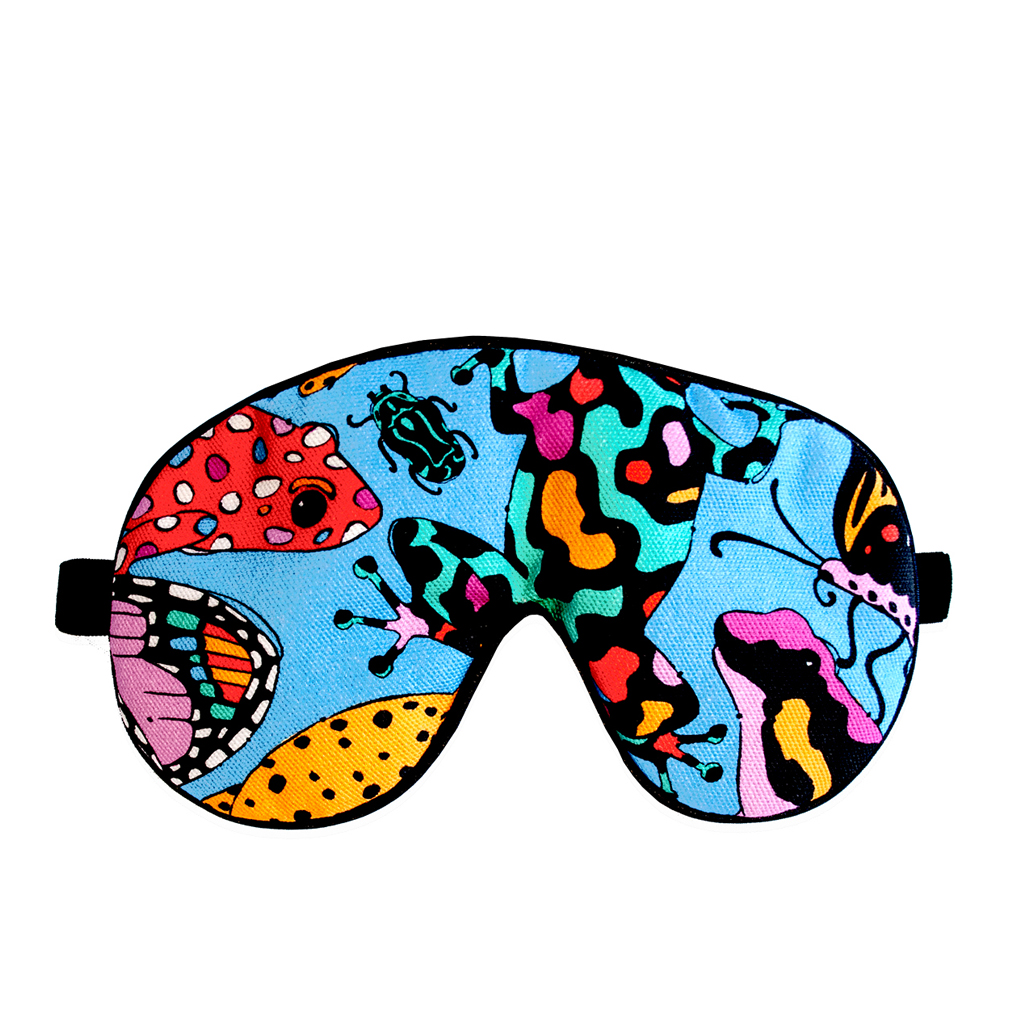 Frog Print Eye Mask 'Fatal Attraction Blue'