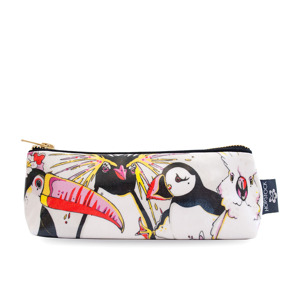 Bird Print Wash Bag 'Rare Bird Canvas' Small