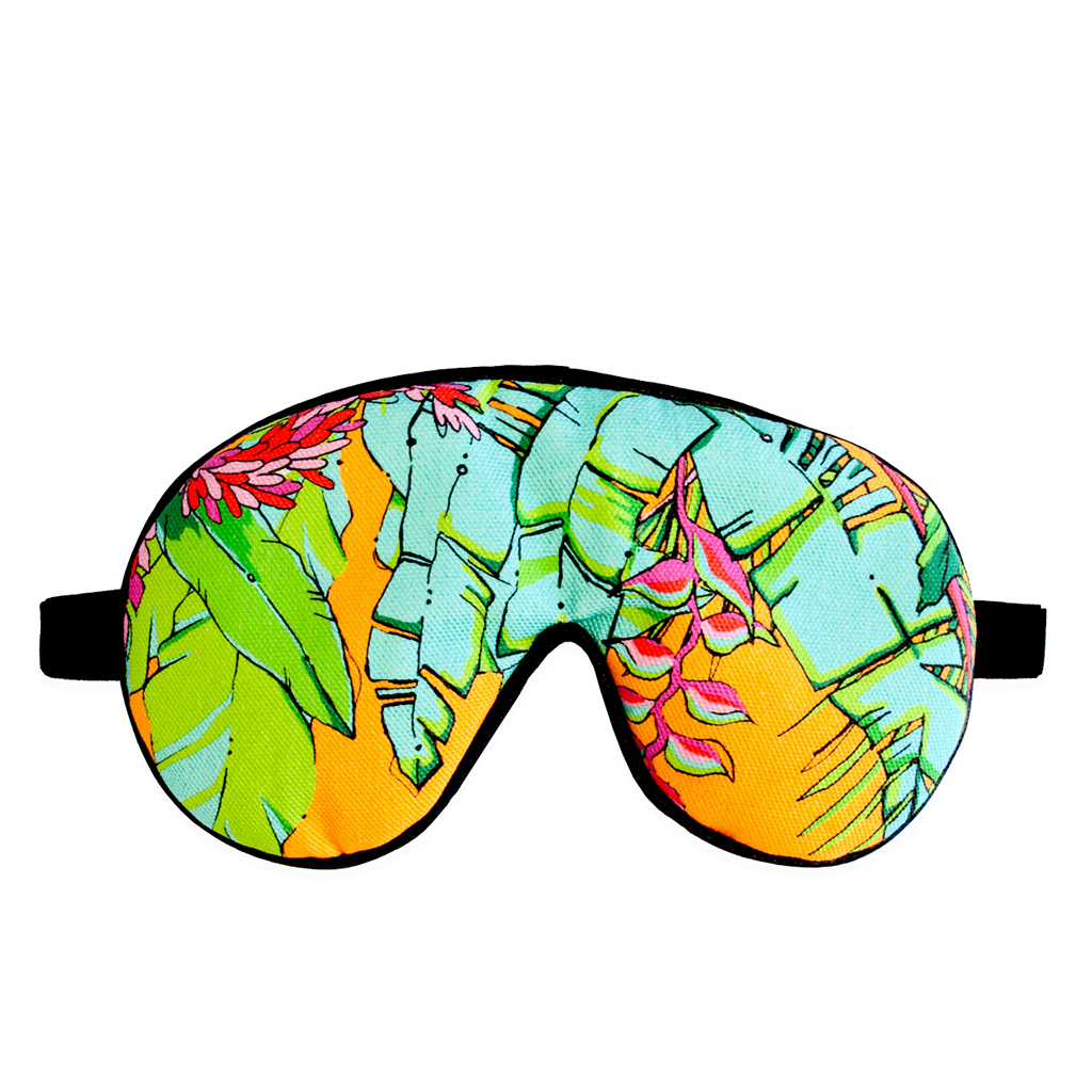 Palm Print Eye Mask 'Shangri La Orange'