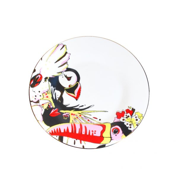 Fine Bone China Saucer 'Rare Bird'