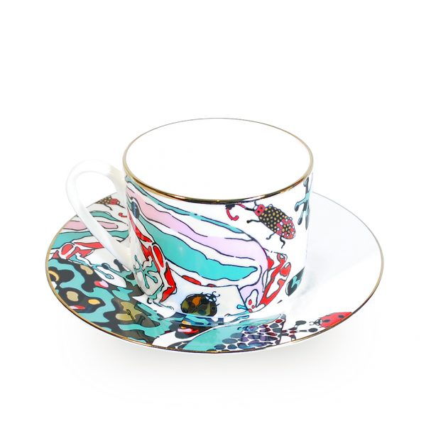 Fine Bone China Cup and Saucer 'Fatal Attraction'