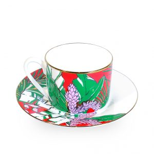 Fine Bone China Cup and Saucer 'Winter Palm'