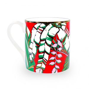 Fine Bone China Mug 'Winter Palm'