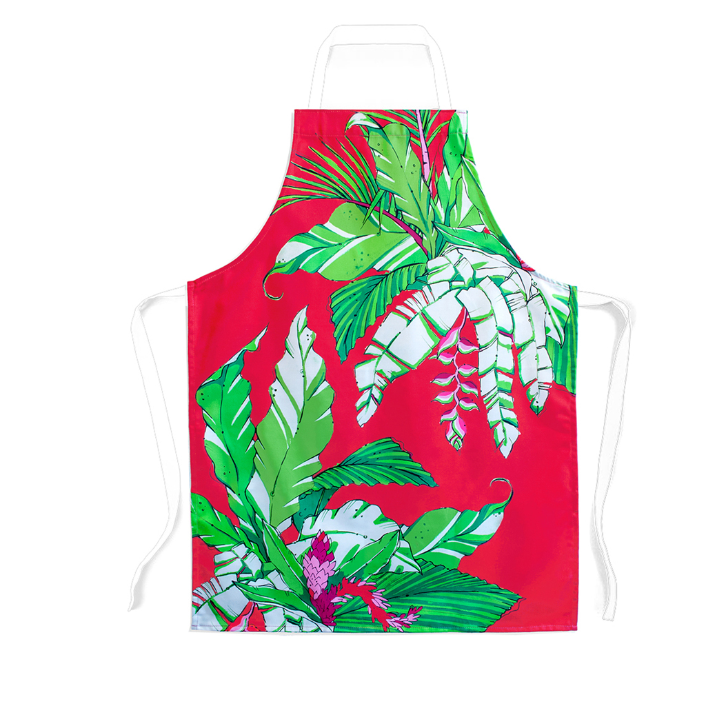 Palm Print Children's Apron 'Winter Palm'
