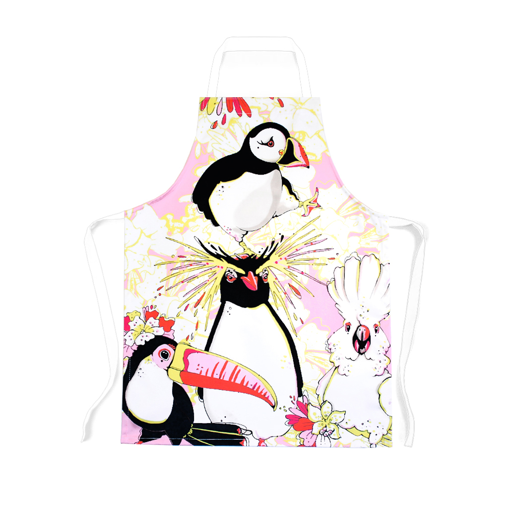 Bird Print Children's Apron 'Rare Bird'