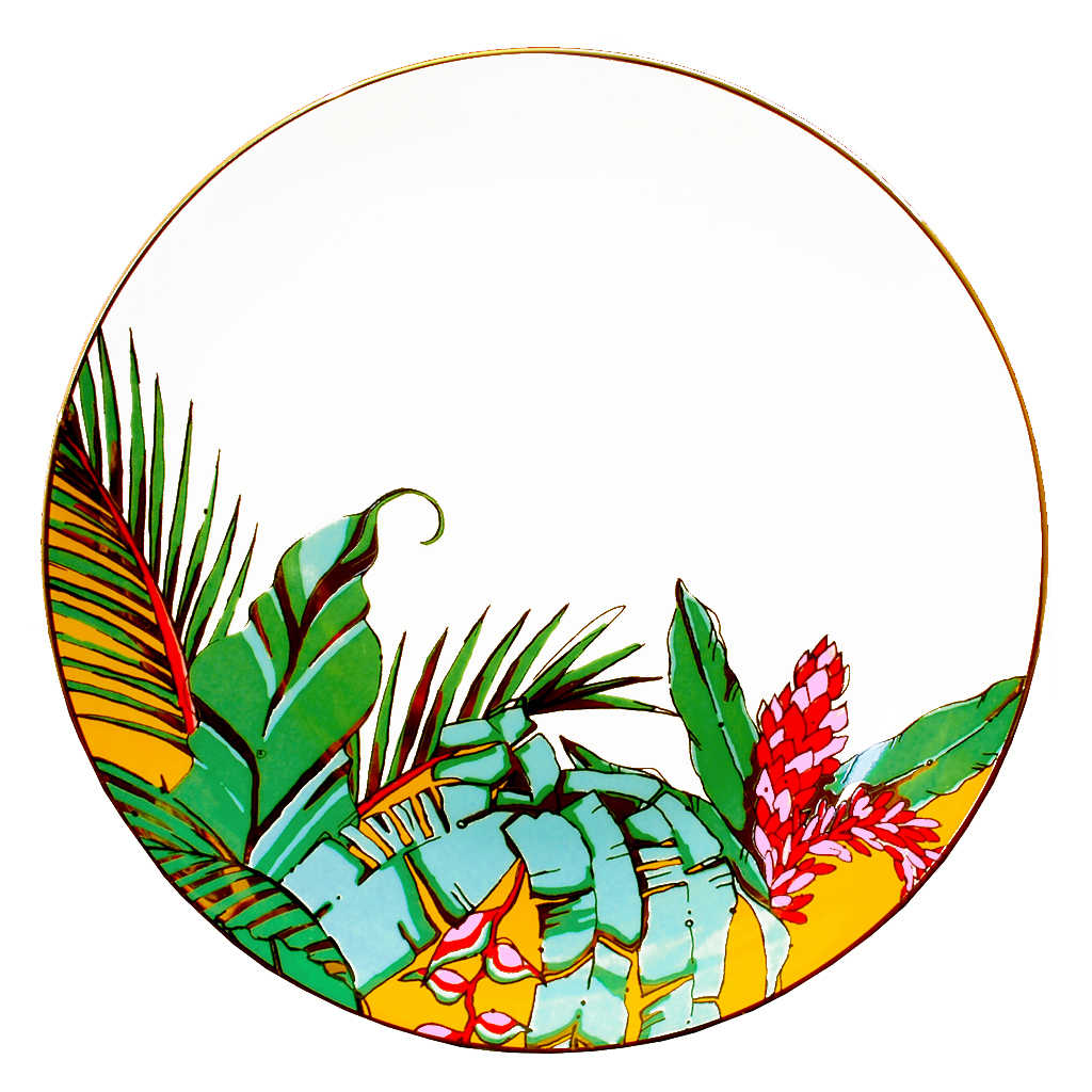 Fine Bone China Plates 'Shangri La'