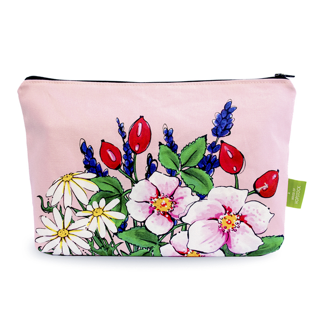 Floral Makeup Pouch 'Somerset Pink'