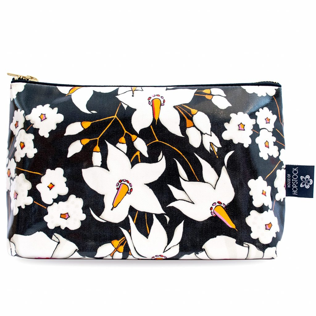Floral Print Wash Bag 'Deadly Bloom' Large