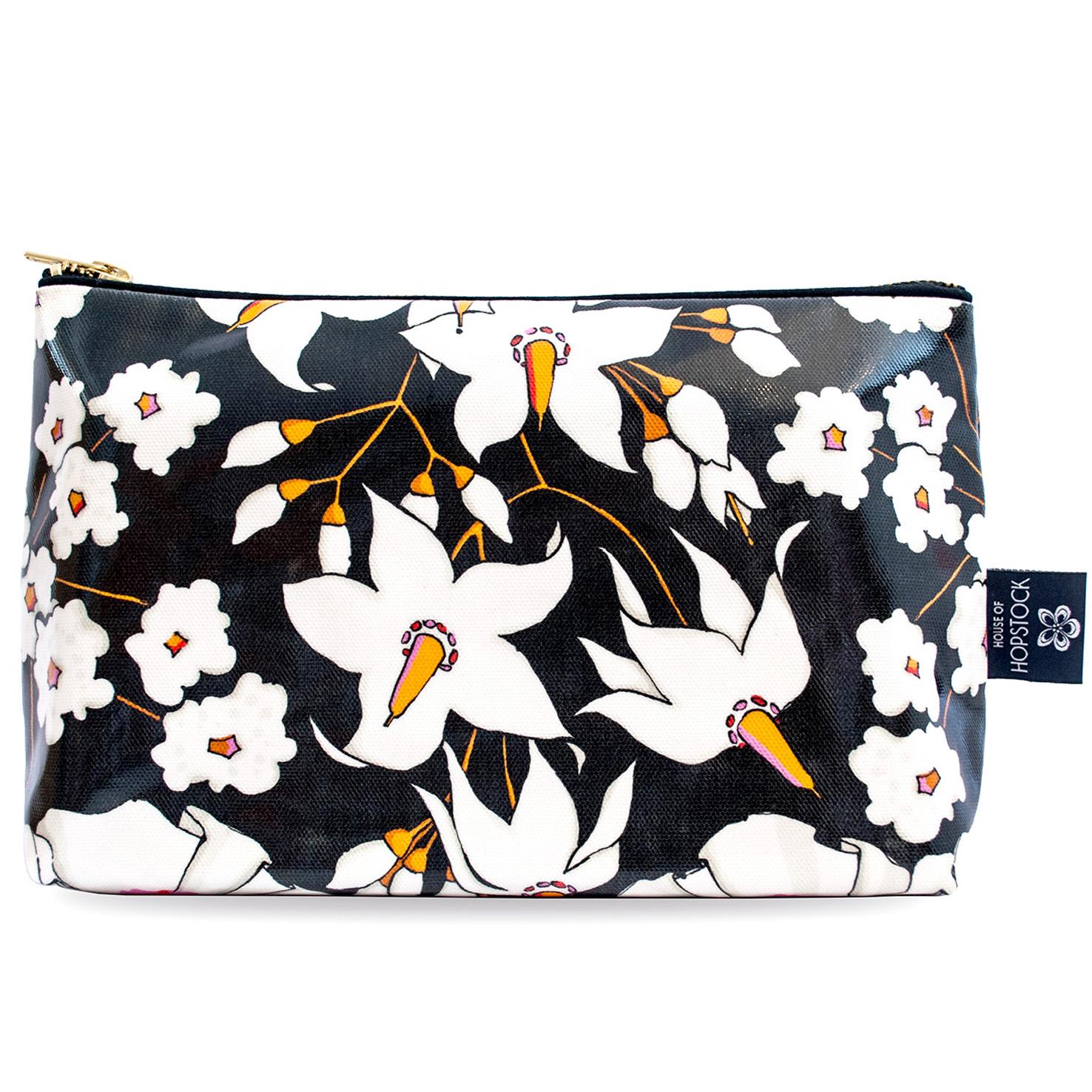 Floral Print Wash Bag 'Deadly Bloom' Large