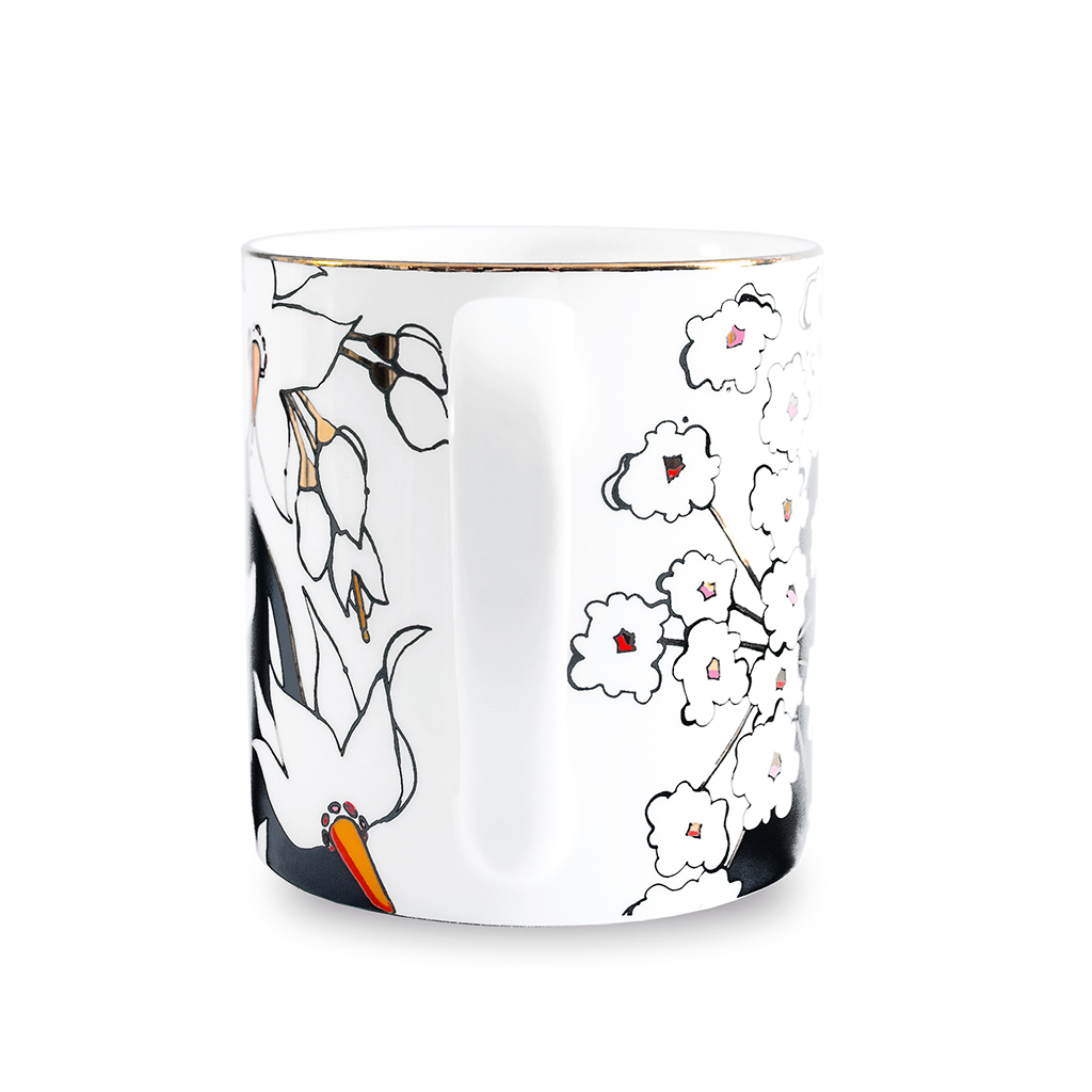 Fine Bone China Mug 'Deadly Bloom'