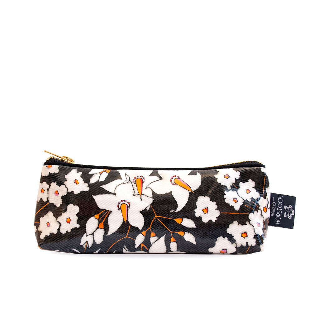 Floral Print Wash Bag 'Deadly Bloom' Small