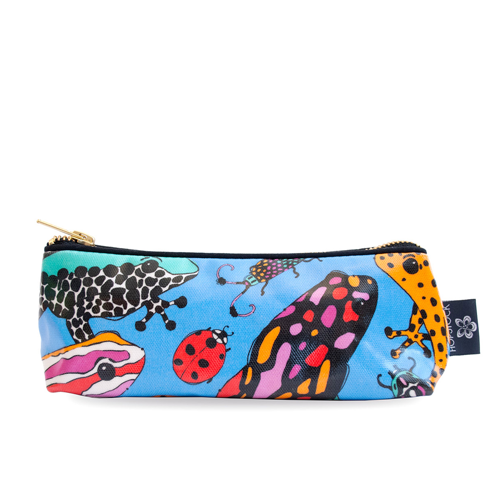 Frog Print Wash Bag 'Fatal Attraction Blue' Small