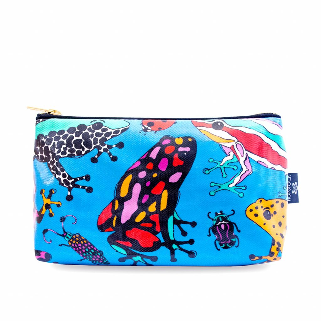 Frog Print Wash Bag 'Fatal Attraction Blue' Medium