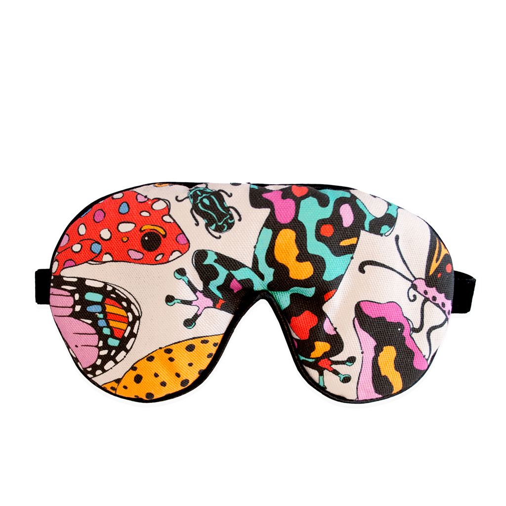 Frog Print Eye Mask 'Fatal Attraction Taupe'