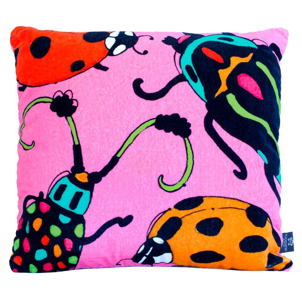 Beetle Print Cushion Cover 'Fatal Attraction' Bugsy Malone 2