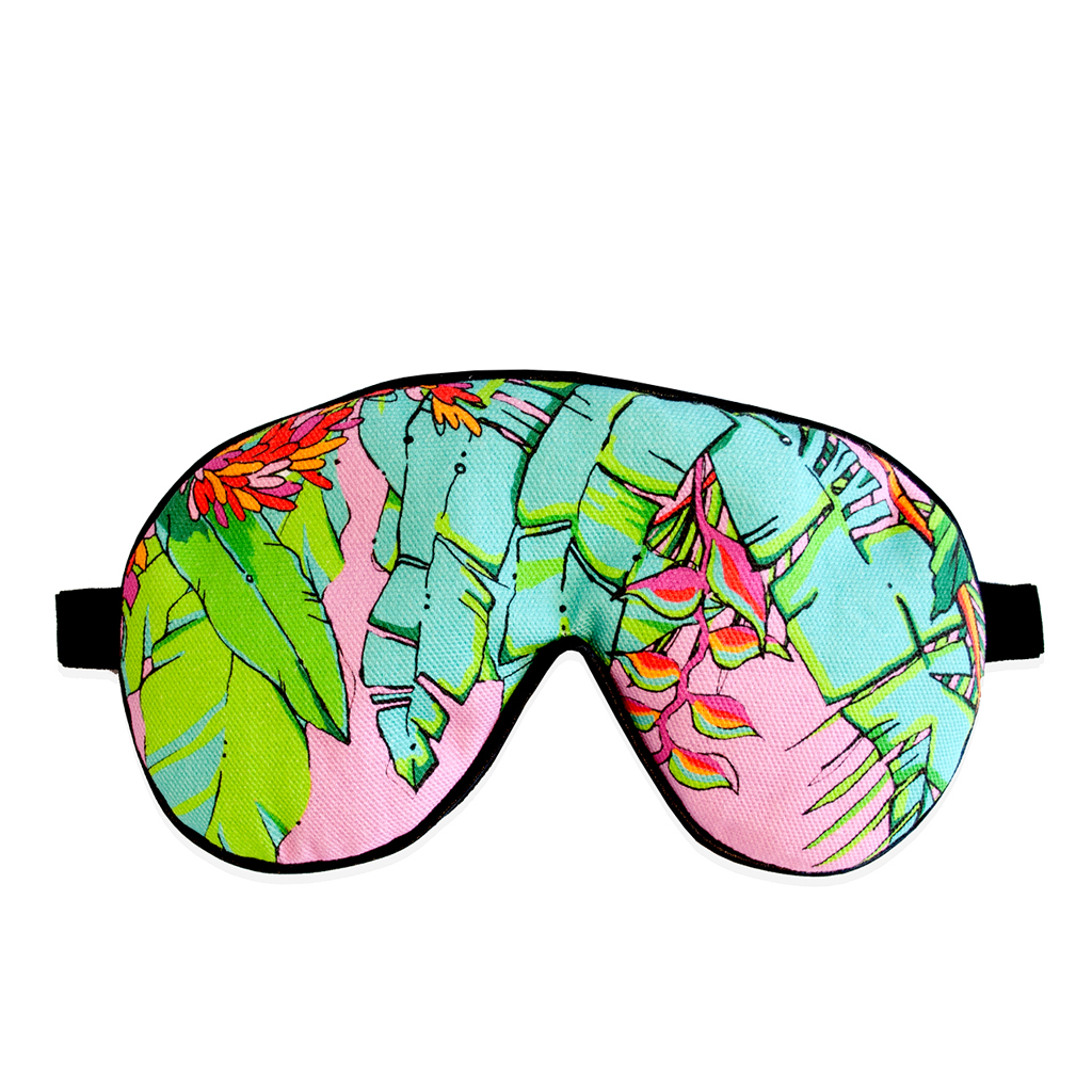 Palm Print Eye Mask 'Shangri La Pink'