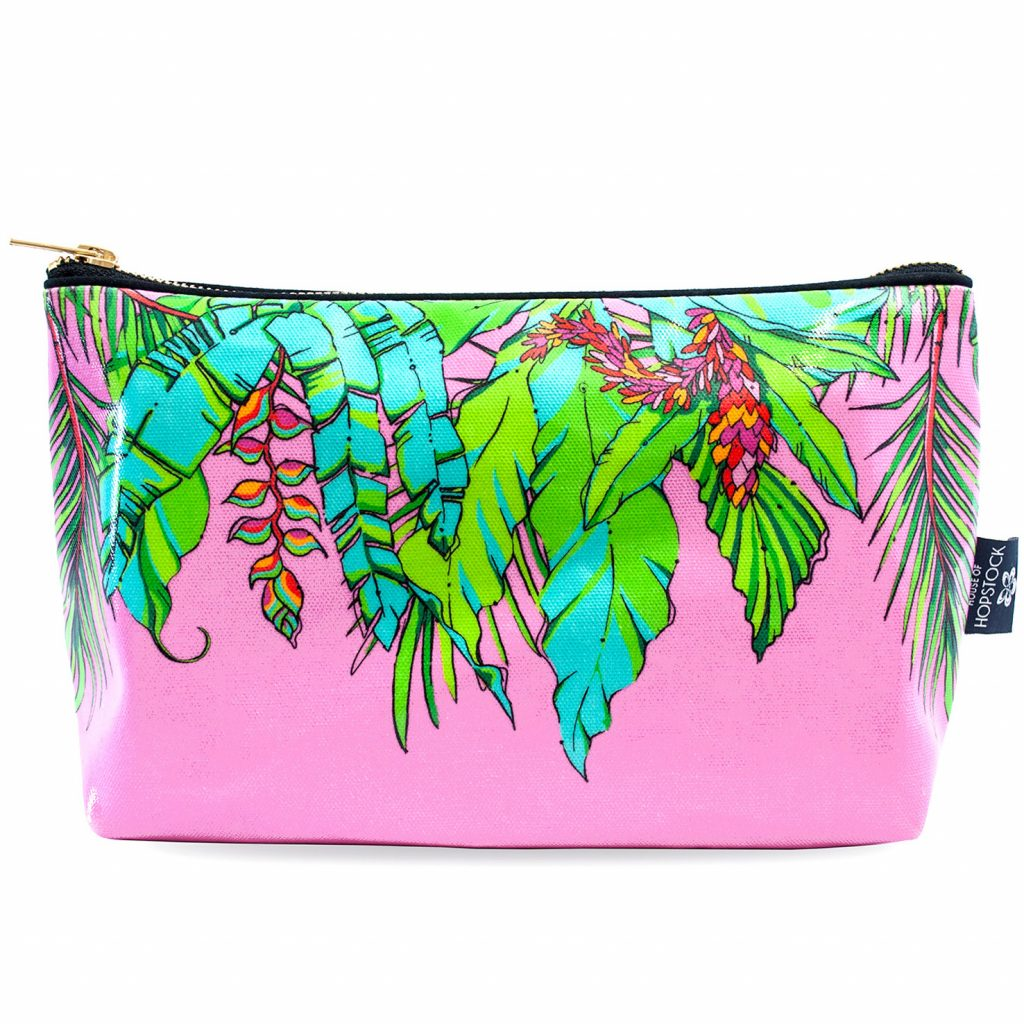 Palm Print Wash Bag 'Winter Palm' Large