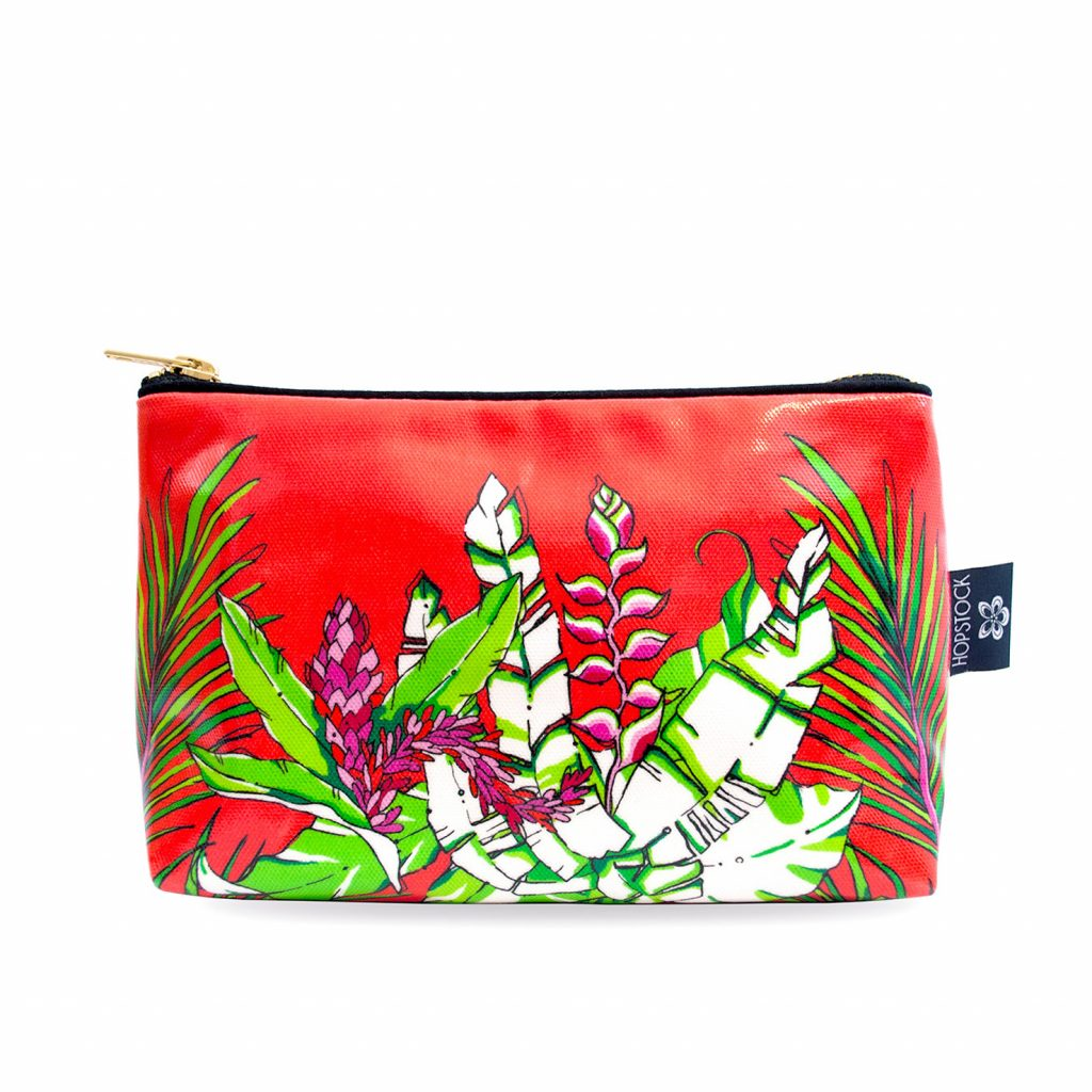 Palm Print Wash Bag 'Winter Palm' medium