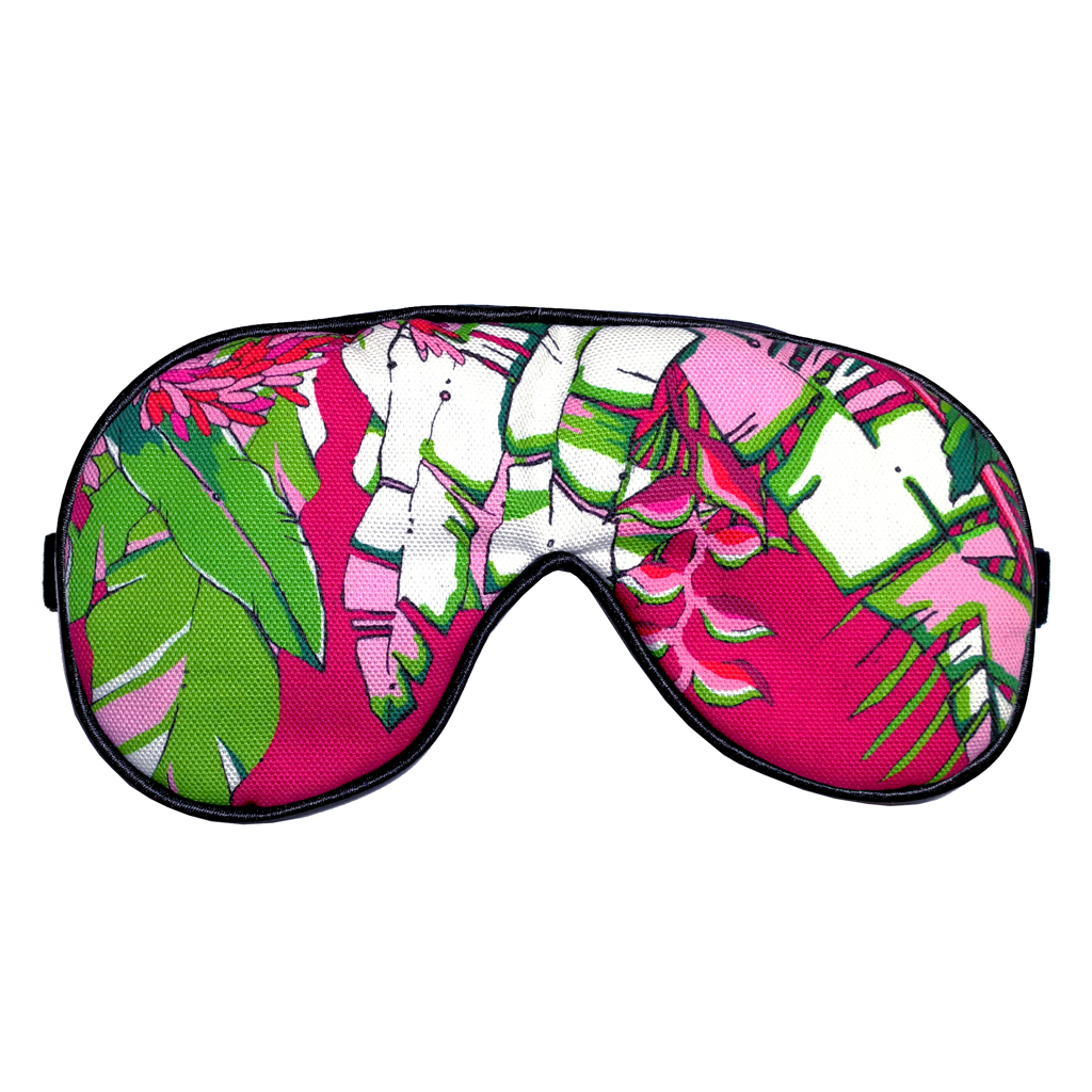 Tropical Palm Print Eye Mask 'Winter Palm'