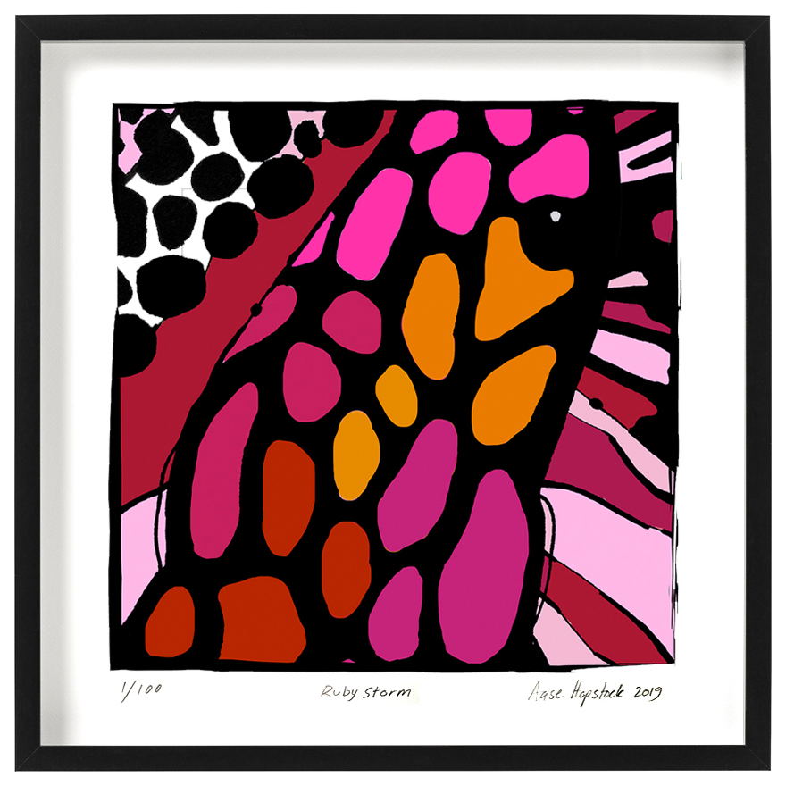 colourful abstract giclee art print