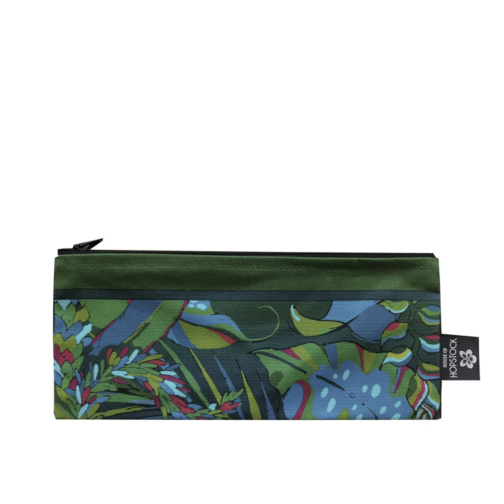 brush bag palm print makeup
