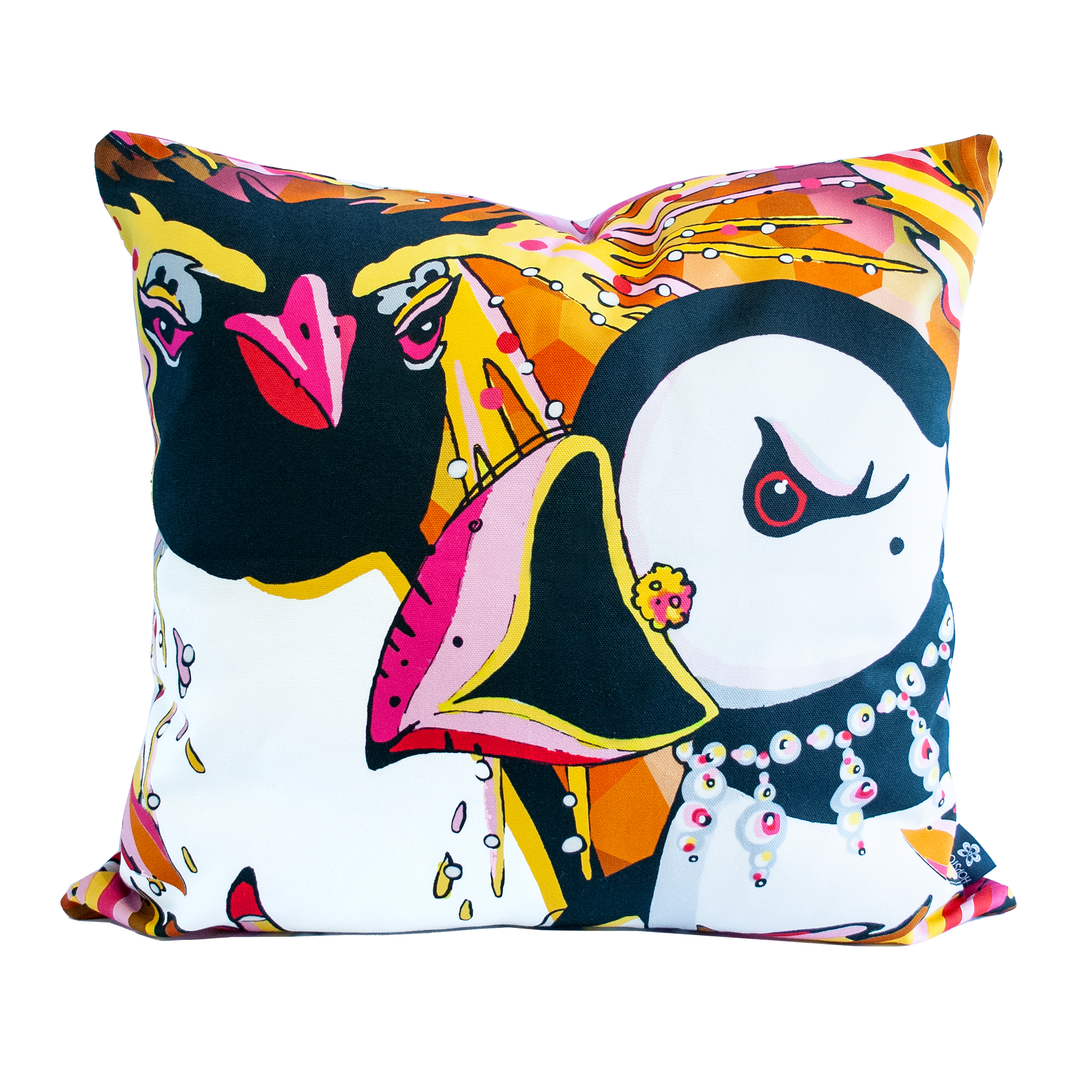 penguin puffin cushion cover rare bird