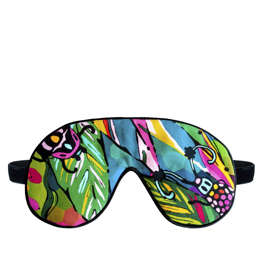 colourful jungle beetle print eye sleep mask house of hopstock