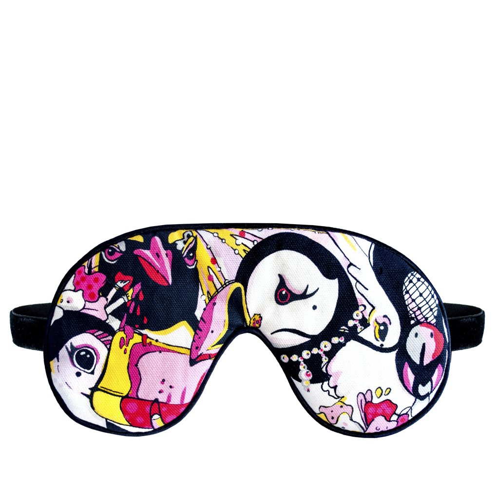 playful luxury cotton velvet sleep mask eye mask lavender house of hopstock