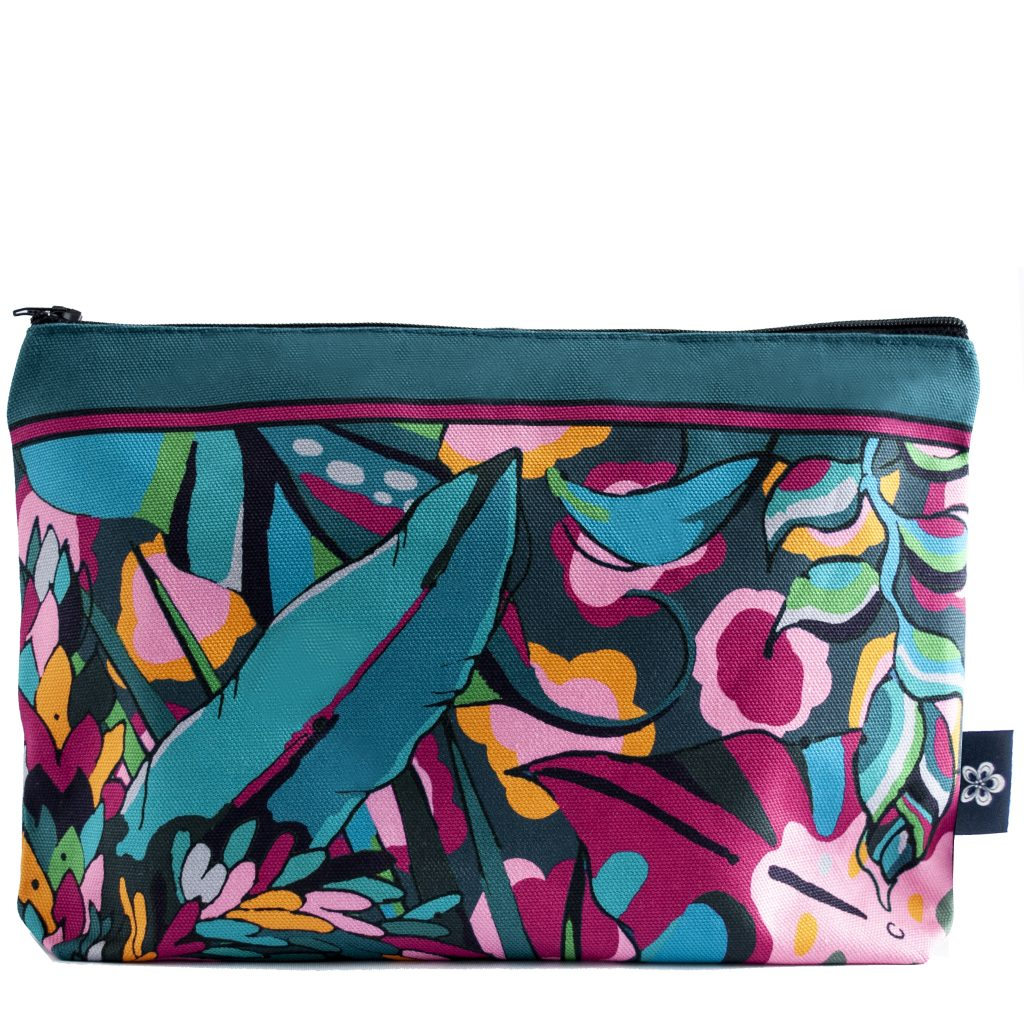 dark moody palm print makeup pouch house of hopstock