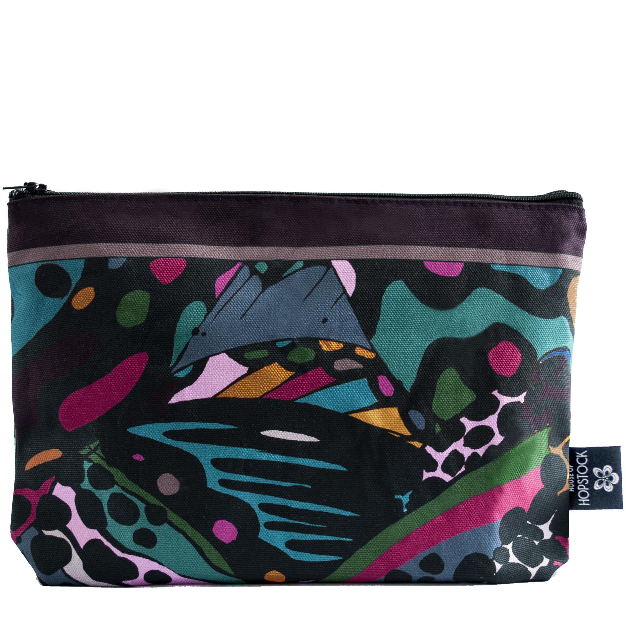abstract art print makeup cosmetics wash bag collidoskope house of hopstock