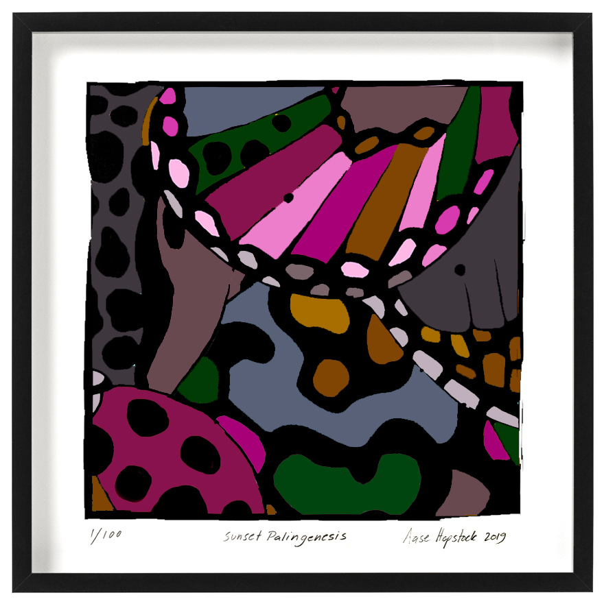 abstract art giclee print house of hopstock dark