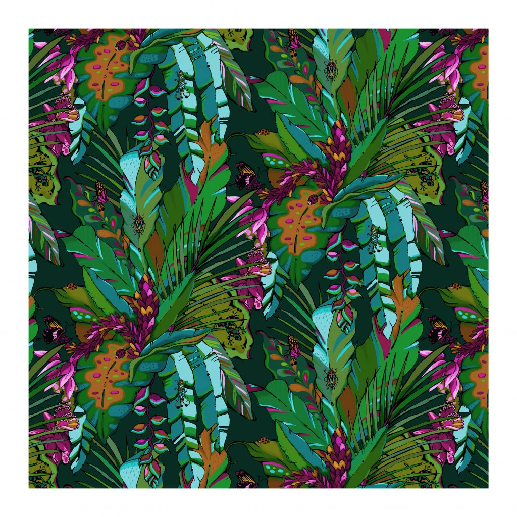 Tropical Jungle wallpaper tropicana lush house of hopstock