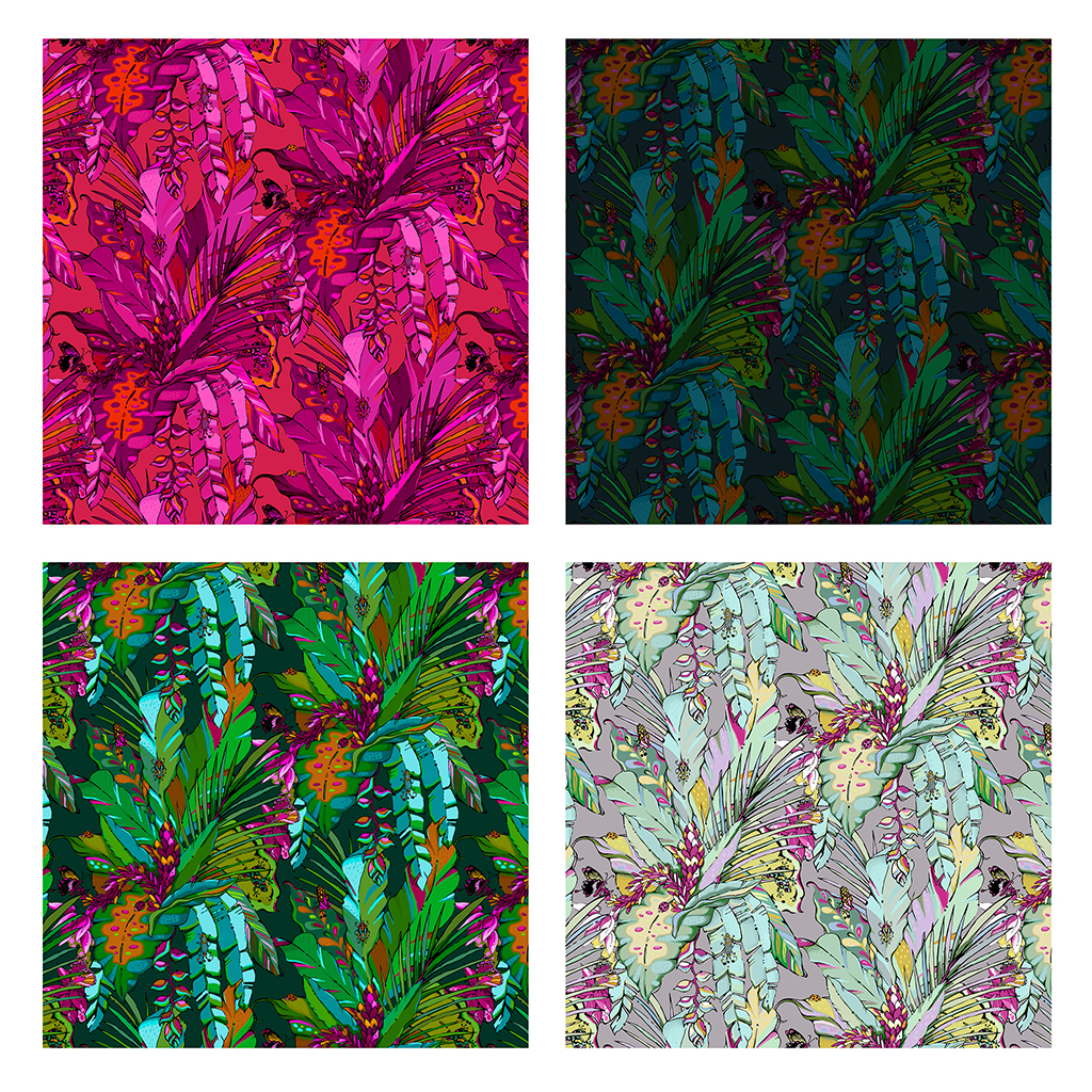 free colourful tropical wallpaper samples