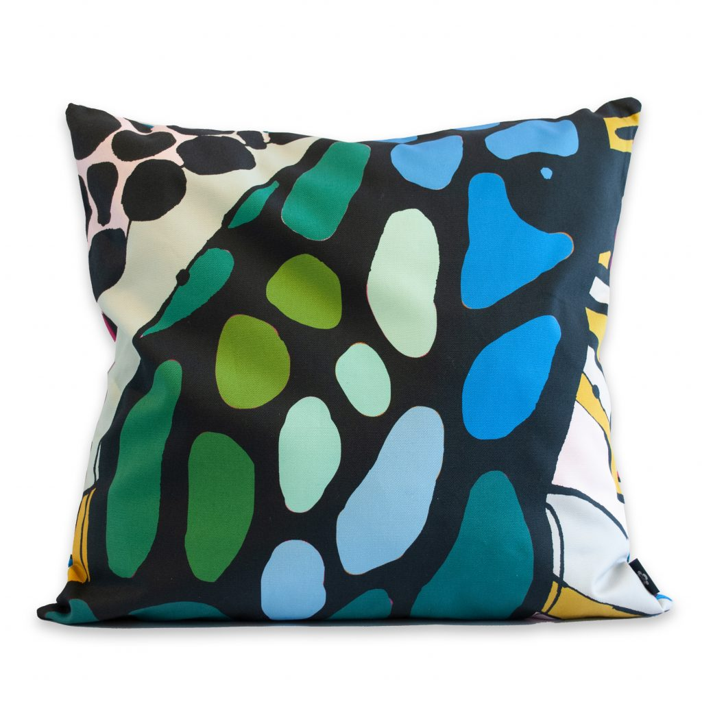 abstract art print cushion cover cotton collidoskope house of hopstock