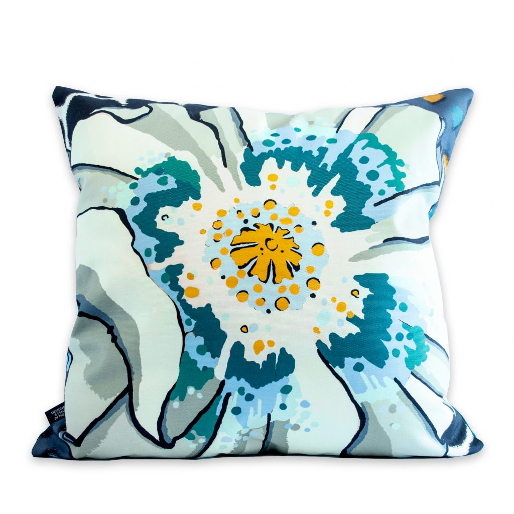 poppy floral print cushion cover house of hopstock