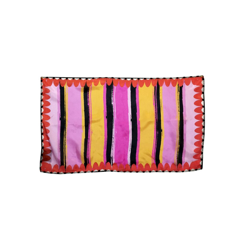 striped silk square