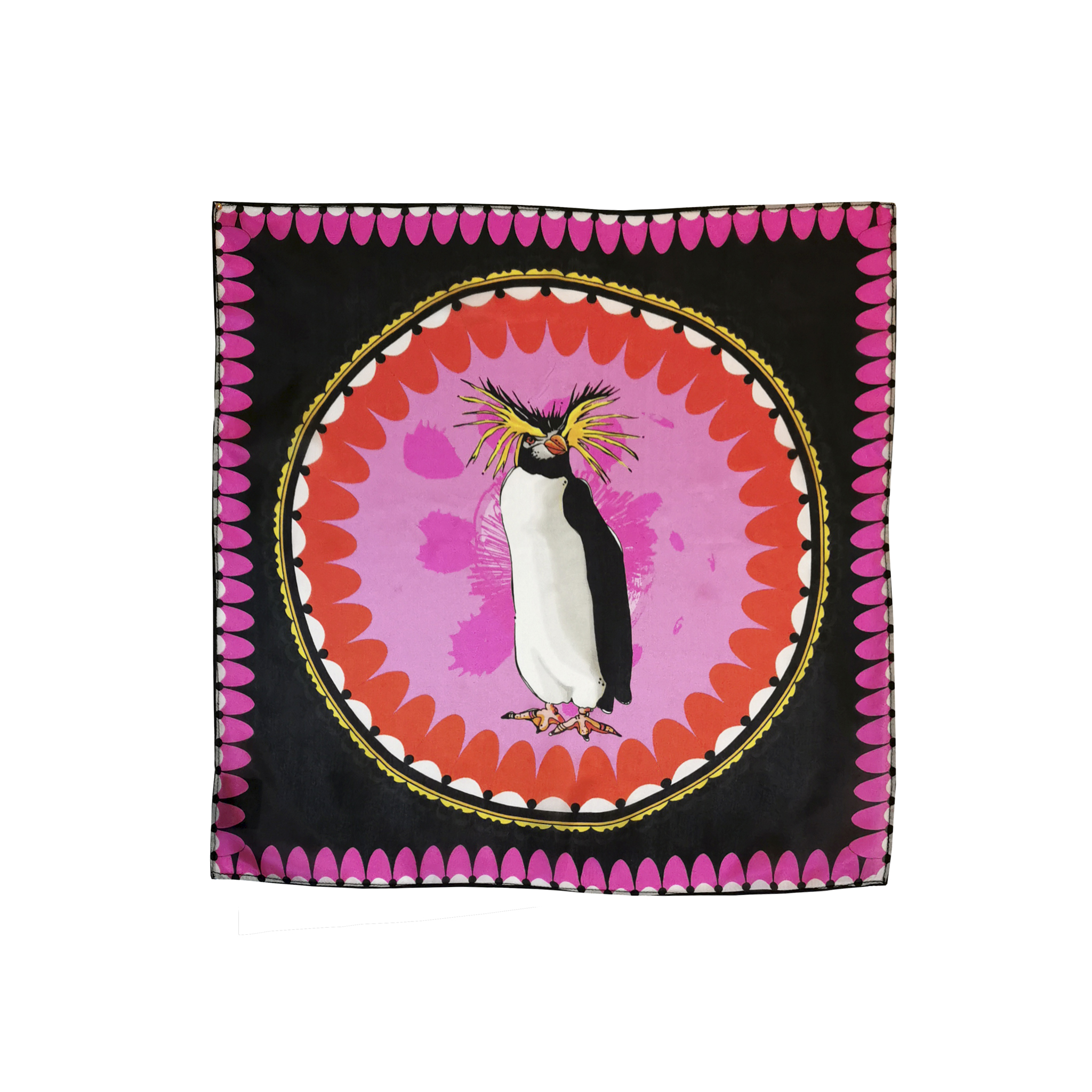 bird toucan large modal cashmere scarf bright pink house of hopstock