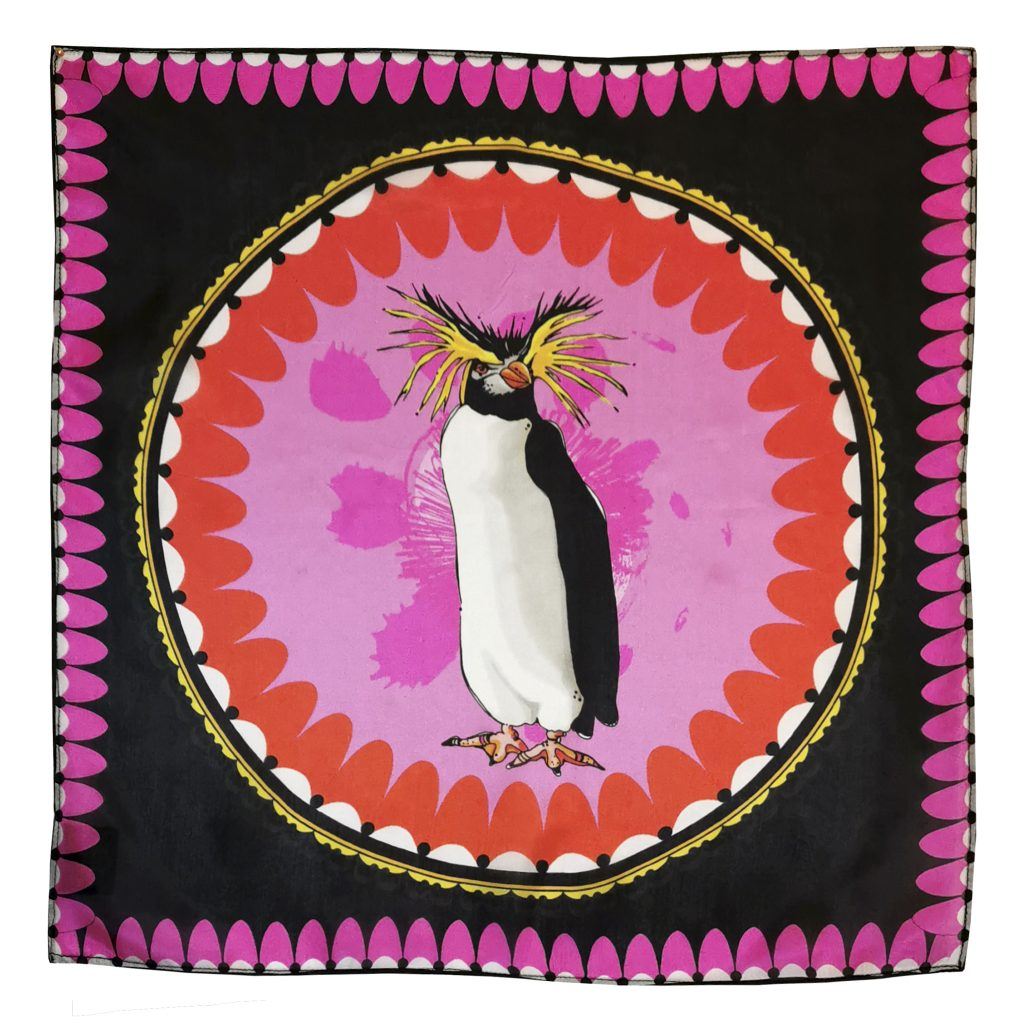bird penguin large modal cashmere scarf house of hopstock