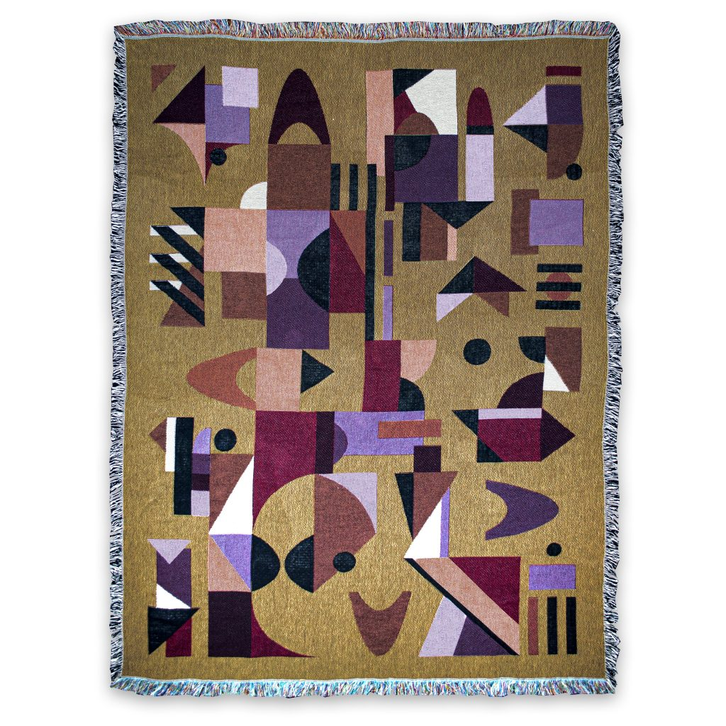 recycled cotton jaquard blanket house of hopstock space odyssey