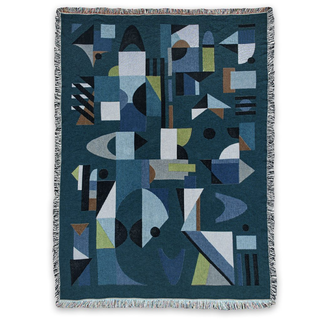 Space odyssey cotton blanket jaquard recycled house of hopstock