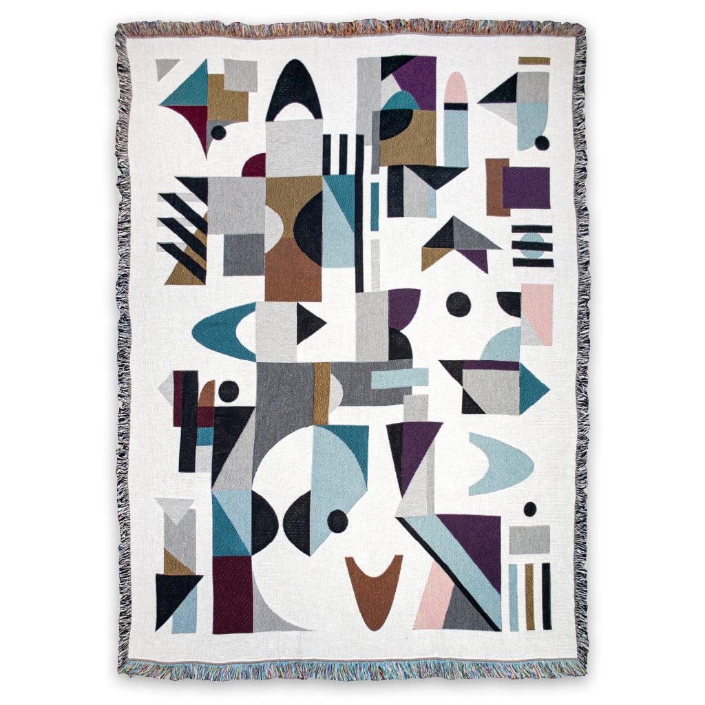Space Odyssey Tellus geometric blanket cotton house of hopstock